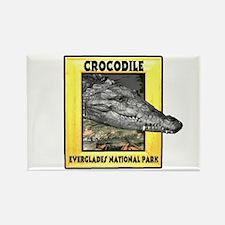 Everglades National Park Croc Rectangle Magnet