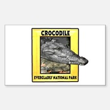 Everglades National Park Croc Rectangle Decal