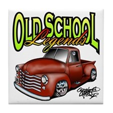 Old School Legends '53 Chevy Pickup Tile Coaster