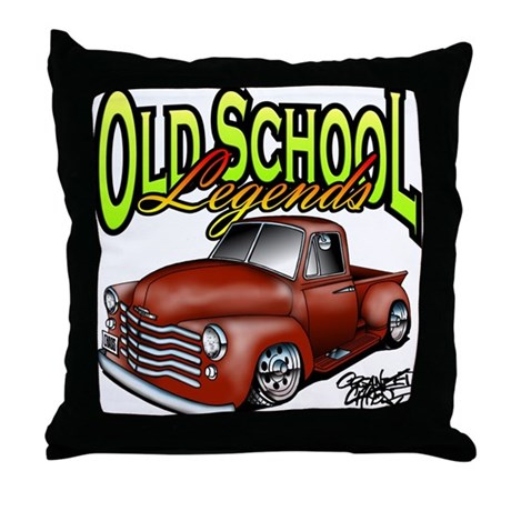 Old School Legends '53 Chevy Pickup Throw Pillow