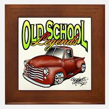 Old School Legends '53 Chevy Pickup Framed Tile
