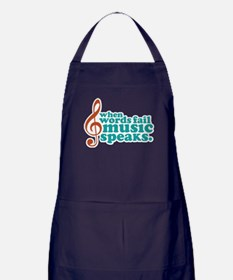 Teal Music Speaks Apron (dark)
