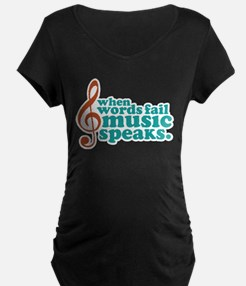 Teal Music Speaks T-Shirt