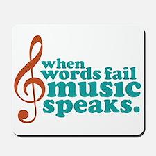 Teal Music Speaks Mousepad