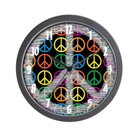 Peace Signs Wall Clock