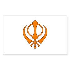 Khanda Rectangle Decal