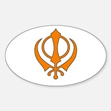 Khanda Oval Decal
