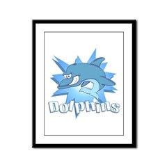 Dolphins Team Framed Panel Print