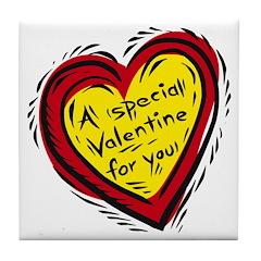 Special Valentine 1 Tile Coaster