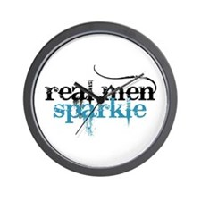 Real Men Sparkle 2 Wall Clock