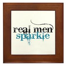 Real Men Sparkle 2 Framed Tile