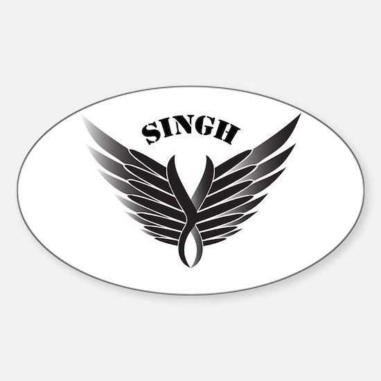 Singh wings Oval Decal
