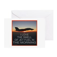 SMELL OF JET FUEL Greeting Card