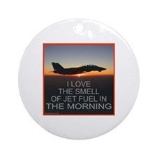 SMELL OF JET FUEL Ornament (Round)