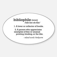 Bibliophile Definition Oval Decal