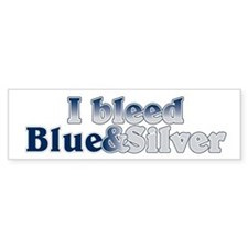I Bleed Blue and Silver Car Sticker