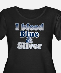 I Bleed Blue and Silver T