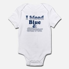 I Bleed Blue and Silver Onesie