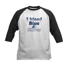 I Bleed Blue and Silver Tee