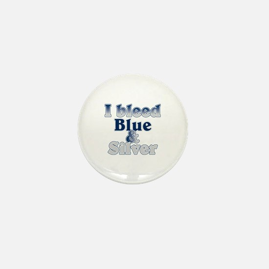 I Bleed Blue and Silver Mini Button