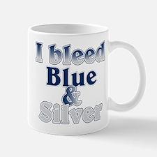I Bleed Blue and Silver Mug