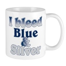 I Bleed Blue and Silver Small Mug