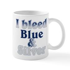 I Bleed Blue and Silver Small Small Mug