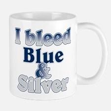 I Bleed Blue and Silver Small Small Mug