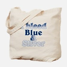 I Bleed Blue and Silver Tote Bag