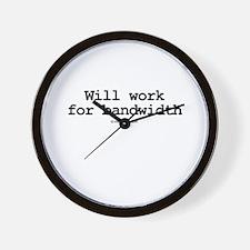 Will work for bandwidth ~  Wall Clock