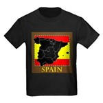 Spanish Map Kids Dark T-Shirt