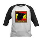 Spanish Map Kids Baseball Jersey