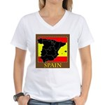 Spanish Map Women's V-Neck T-Shirt
