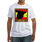 Spanish Map Fitted T-Shirt