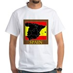 Spanish Map White T-Shirt