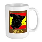 Spanish Map Large Mug