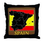 Spanish Map Throw Pillow