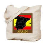 Spanish Map Tote Bag