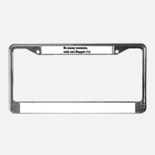 Unique So many License Plate Frame