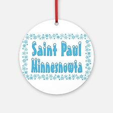 Saint Paul Minnesnowta Ornament (Round)