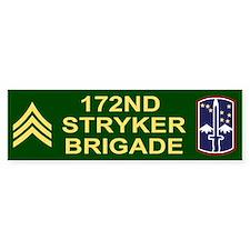 172nd Stryker Brigade<BR> Sergeant Bumper Bumper Sticker