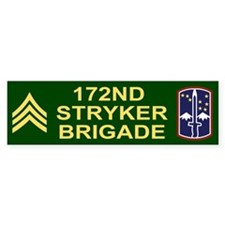 172nd Stryker Brigade<BR> Sergeant Bumper Car Sticker