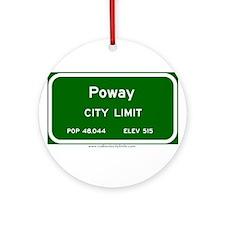 Poway Ornament (Round)