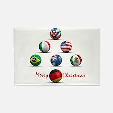 Soccer Christmas Tree Rectangle Magnet (100 pack)