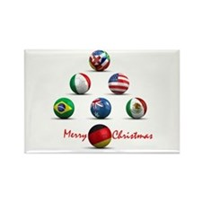 Soccer Christmas Tree Rectangle Magnet