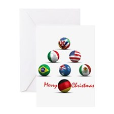 Soccer Christmas Tree Greeting Card