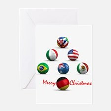 Soccer Christmas Tree Greeting Card