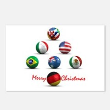 Soccer Christmas Tree Postcards (Package of 8)