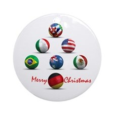 Soccer Christmas Tree Ornament (Round)