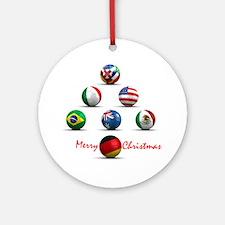 Soccer Christmas Tree Ornament (Round)